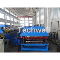 Buy cheap 18 Forming Stations Roof Panel Roll Forming Machine , Double Sheet Roll Forming Machine product