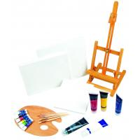 Buy cheap 21pcs Art Painting Set With Table Easel / Palette / Canvas / Brushes / Colors product
