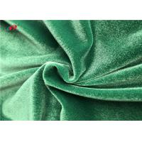 Buy cheap Shiny Green Warp Knitted Polyester Elastane Fabric For Garment Dress Blanket product