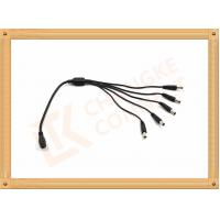 Buy cheap Male To Female Custom Power Cables DC12V 5.5X2.1 Mm 1 To 5 Y Type product