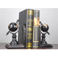 Buy cheap Black Plated Resin Decoration Crafts , Study Room Globe Book Holder product
