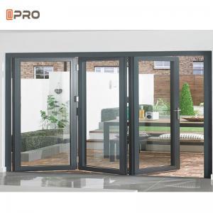 Buy cheap Exterior Bi Folding Door Aluminum Folding Door Glass Patio For Store product