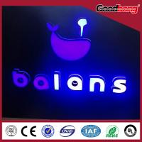 Buy cheap LED plastic metrials frontlit and backlit lighting Channel Alphabet Letter Sign product