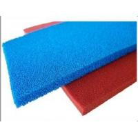 Buy cheap Red Blue Silicone Sponge Sheet Food Grade Silicone Rubber Sheet Open Cell For Iron Table product