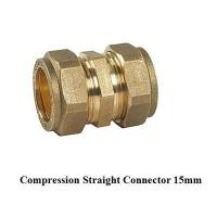 Buy cheap compression fitting straight 15mm for copper pipe product