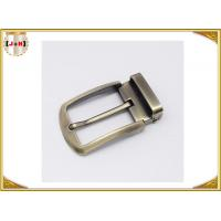 Buy cheap Environmental Safety Plating Reversible Belt Buckle With CNC Engrave Logo product