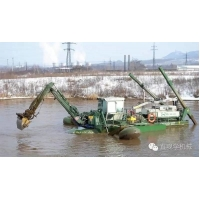 Buy cheap 400m3/H 2500m3 Amphibious Dredger Boat Multifuctional Floating Excavator product