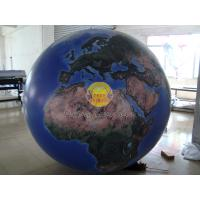 Buy cheap 2m Huge Inflatable Helium Earth Balloons Globe with Total Digital Printing with 540*1080 dpi for Trade show product