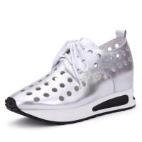 Buy cheap Fashion Casual Height Increasing Shoes Hollow Elevator Sneakers Lace up for WomenTaller 2.56 Inches product