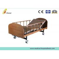 "Medical Wooden Medical Hospital Beds Double Cranks With 4pcs 4"" Noiseless Castors ( ALS-HM002)"