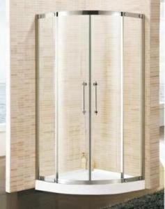 Buy cheap Clear 4mm Tempered Glass Single Steam Shower Room ABS Tray product