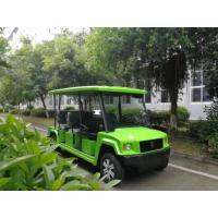 Buy cheap 4 Seats Electric Sightseeing Car , Fiberglass Green Color Electric People Mover from wholesalers