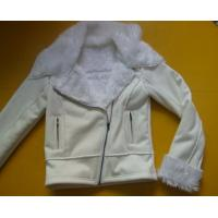 Buy cheap 100 Polyester Bomber Jacket , Suede And Fur Joint Ladies Hooded Jacket product