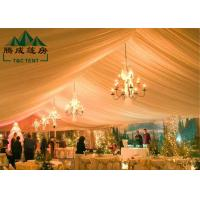 15M * 40M Waterproof Canopy Tent With Flexible Poles / Bar Tensioning Roof Fixing