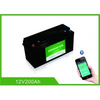 Buy cheap Lifepo4 Bluetooth Lithium Battery 12 Volt 200Ah 2000 Cycles Life With Heating Film product