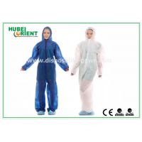 Buy cheap Hooded Disposable Protective Coverall With Elastic Wrist / Ankle / Waist,with feetcover or without feetcover product