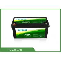 Buy cheap Rechargeable 12V200Ah Bluetooth Lithium Battery High Security for RV and Car Usage Lifepo4 Material product