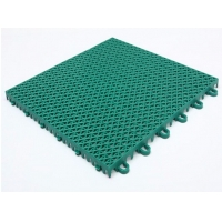 China Green Modular Synthetic Sports Flooring on sale