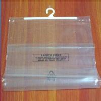 Buy cheap PEVA Hook Bag with Hook for Hanger and 0.1 to 0.8mm Thickness, Eco-friendly, Disposable product