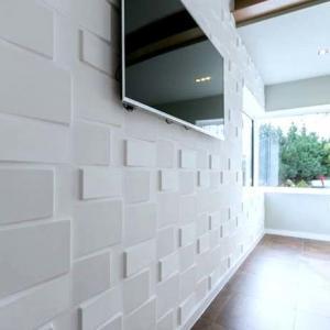 Buy cheap 3dboard wall decor panels 500*500 fiber eco wave panels with original colcor RUBIK product