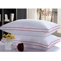 Microfiber Filling White Hotel Comfort Pillows 100% Cotton Fabric Material
