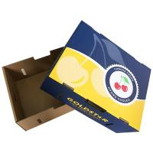 Buy cheap Peach corrugated Fruit Carton Box Environmental - Friendly Materials Biodegradable product