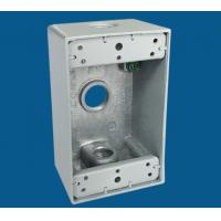 Buy cheap 3 Outlet Holes Waterproof Electrical Box / Outdoor Electrical Outlet Box product