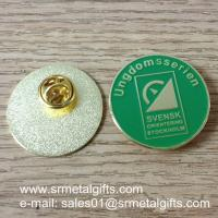 Buy cheap Custom enamel lapel pin with butterfly clutch, China pin factory product