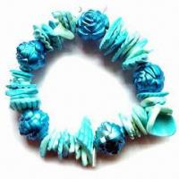 Buy cheap Fashionable and Stylish Bracelet, Made of Colorful Conch, Available in Various Designs product