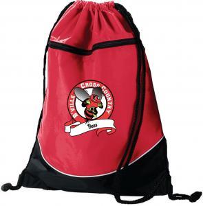 Buy cheap Red plain drawstring fabric drawstring package bag cloth packing bag product
