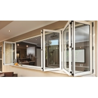 Buy cheap Energy Saving Aluminium Bifold Windows Clear Tempered Glass 5mm-12mm Thickness product