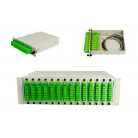 Buy cheap LGX Splitter Box / PLC Splitter Cassette, 1*8 Fiber Optical PLC Splitter PLC splitter patch panel, 19' rack product