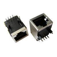 Buy cheap Tab Down RJ45 Connector Port , RJ45 Pass Through Connector Modular Jack product