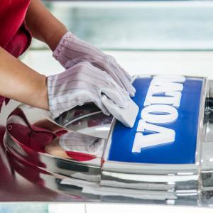 Buy cheap Volvo Round outdoor vacuum forming 3D car logo Illuminated LED Acrylic Auto Signage product