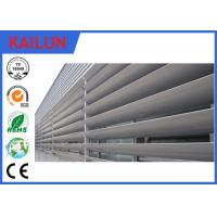 Quality 8 HW Hardness External 6000 T5 Aluminum Louvered Shutters For Building Facade for sale
