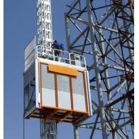3.2 x 1.5 x 2.5m Single Cage Construction Material Hoists for Electric Power Plants