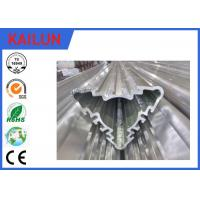 Quality Industrial Hollow Aluminum Extrusion Profiles , Silver Anodized Aluminium Triple Parts for sale