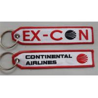Buy cheap Continental Airlines a brodé la bannière de porte-clés product