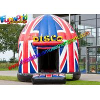 Buy cheap Flag Disco Party Commercial Bouncy Castles Full Painting For Kids product