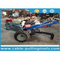 Buy cheap 5 Ton Double Drum Tractor Winch With Water-Cooled Diesel Engine For Cable Pulling from wholesalers