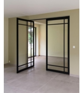 Buy cheap Modern Aluminium Pivot Entry Doors Wooden Grain Finish ISO45001 For Patio product