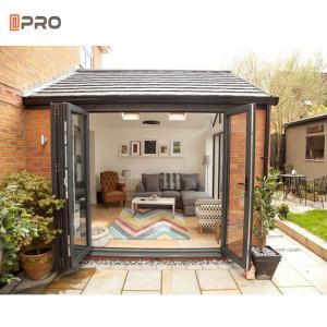 Buy cheap Aluminium Folding Patio Doors Tempered Glass Bi Fold Eu Certified product