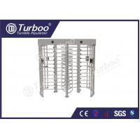 Buy cheap 304 stainless steel dual lane full body turnstile gate with 120 degree revolving product