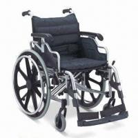 Buy cheap Wheelchair with Aluminum Chair Frame, Flip-up and Height-adjusted Desk Armrest, CE/FDA-approved product
