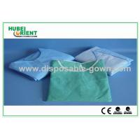 Buy cheap Light Blue Breathable Disposable Isolation Gowns with Knitted Wrist product
