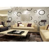 Geometric Non Woven Modern Removable Wallpaper With Black