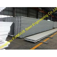 China Fiberglass Rockwool Insulated Sandwich Panels , Prefabricated Roof Wall on sale