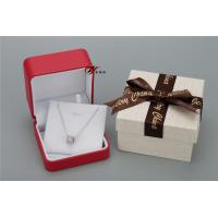 Buy cheap Sweet Red PU Leather Women'S Jewelry Box With Bowknot Flower Cardboard Outer Box product