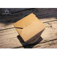 Buy cheap Kraft Paper Takeaway Food Containers Noodles Boxes Flexo Printing / Offset Printing product