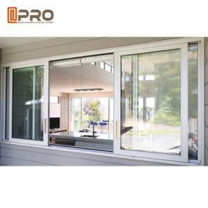 Buy cheap Custom Made Double Glazed Aluminium Sliding Windows Horizontal Opening Pattern sliding window track system product